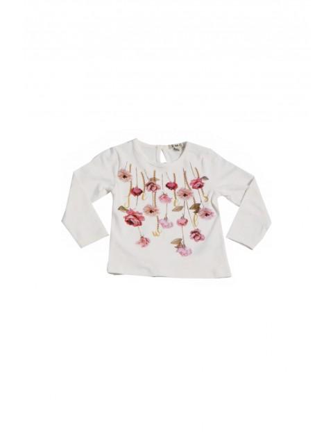 Bluzka dziewczęca w kwiaty