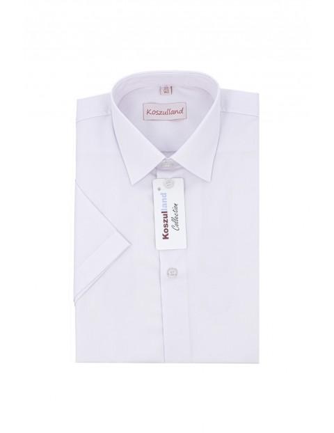 Koszula chłopięca biała krótki rękaw
