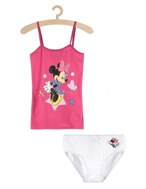 Dziewczęcy komplet bieliźniany majtki i koszulka na ramiączkach Myszka Minnie