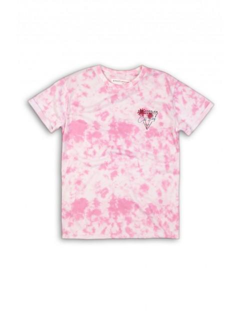 Koszulka chłopięca bawełniana różowa