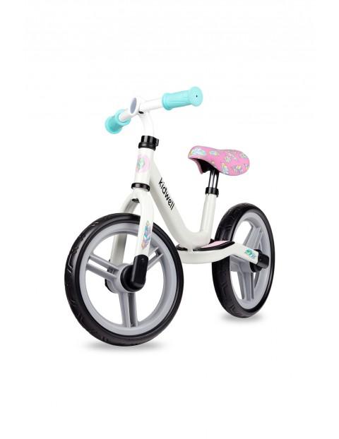 Rowerek biegowy Sparrow biały 12msc+