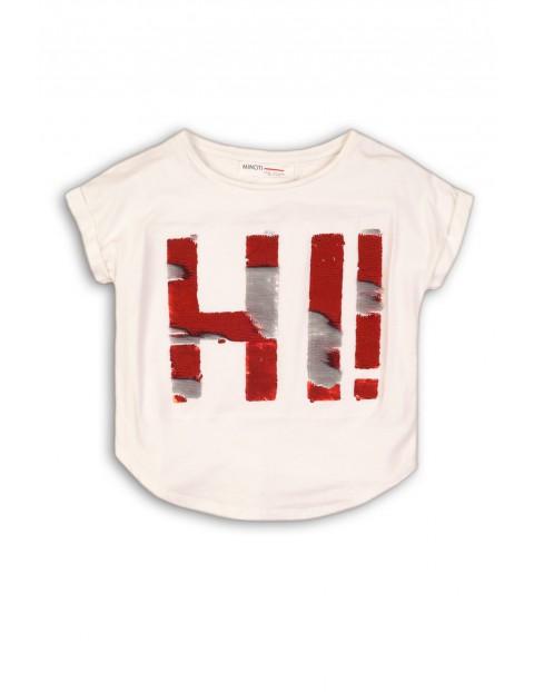 T-shirt dziewczęcy z odwracanymi cekinami HI !
