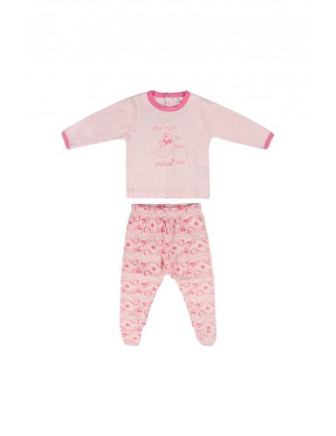 Zestaw niemowlęcy - bawełniana koszulka i spodenki  Minnie - różowy