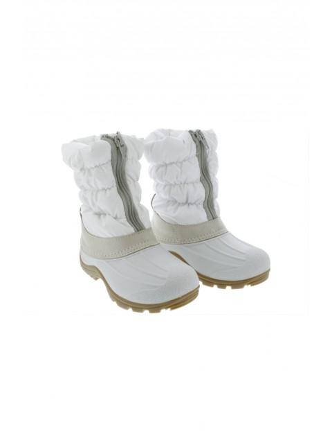 Śniegowce dziewczęce białe