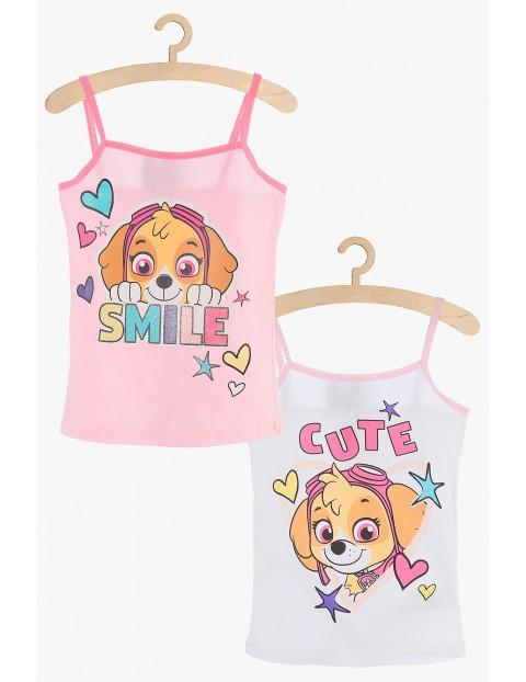 Dziewczęcy komplet bieliźniany Psi Patrl : 2 koszulki na ramiączka