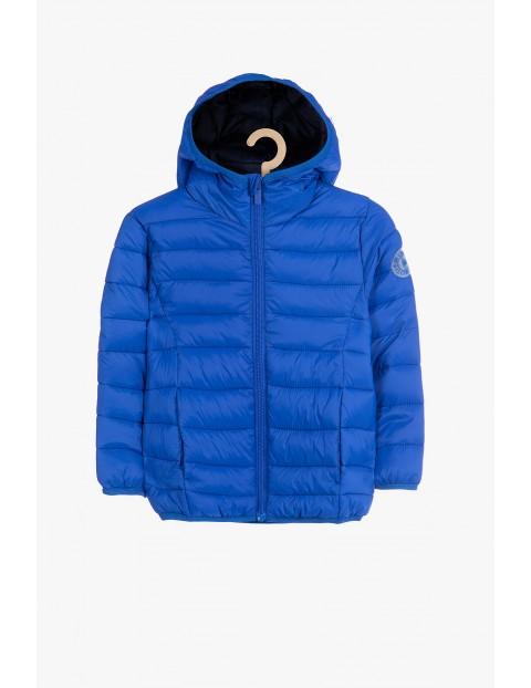 Niebieska pikowana kurtka dla niemowlaka