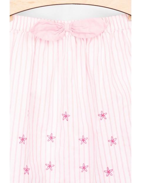 Spódnica dziewczęca w haftowane różowe kwiatki