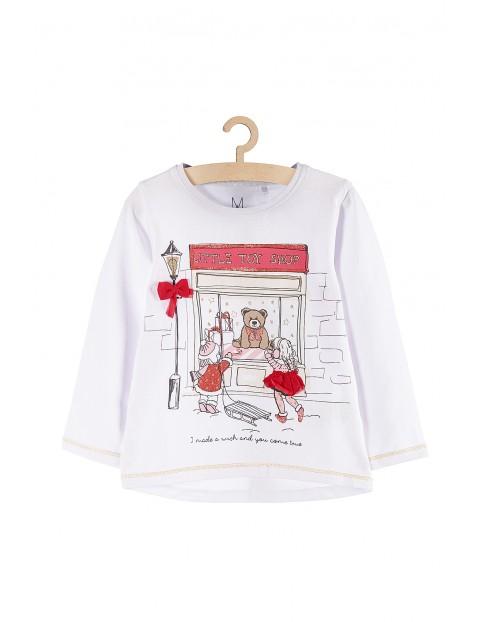 Bluzka dziewczęca ze świątecznym motywem