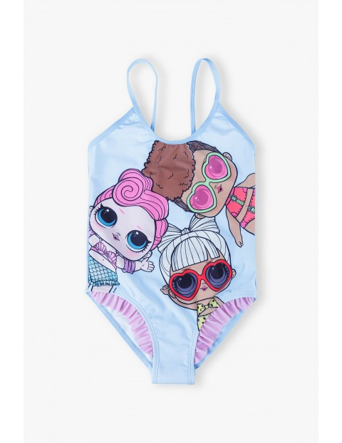 Kostium kąpielowy  LOL Surprise- niebieski