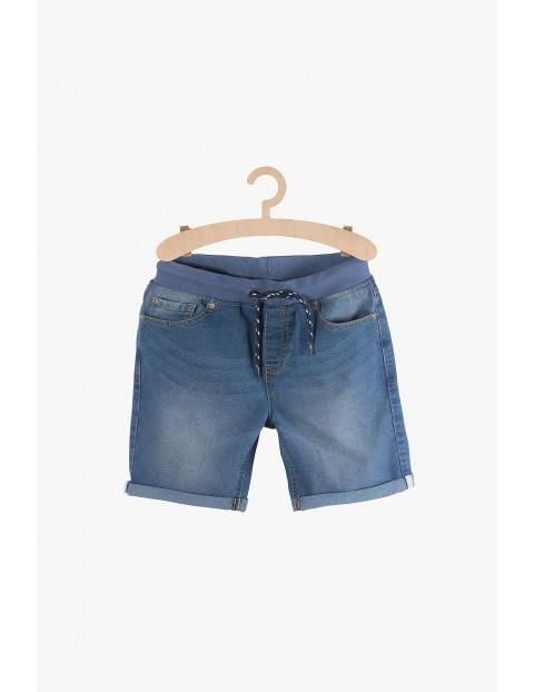 Szorty chłopięce jeansowe- niebieskie z kieszeniami