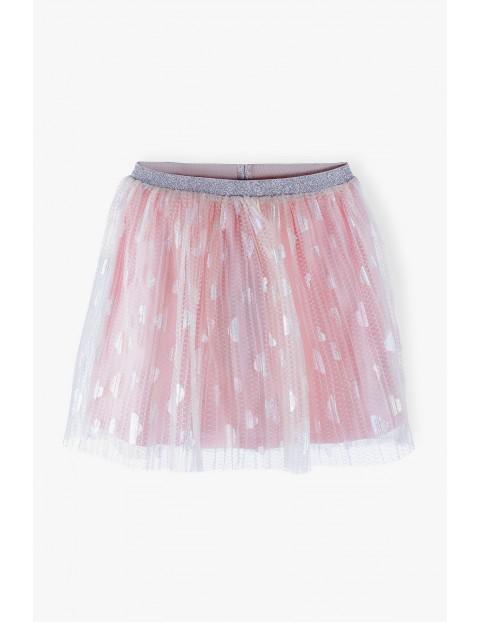Spódniczka tiulowa plisowana - różowa