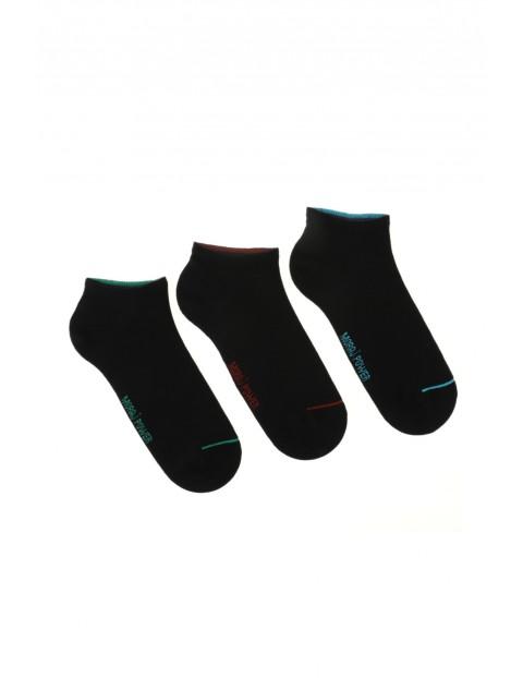 Bawełniane stopki męskie czarne 3pak