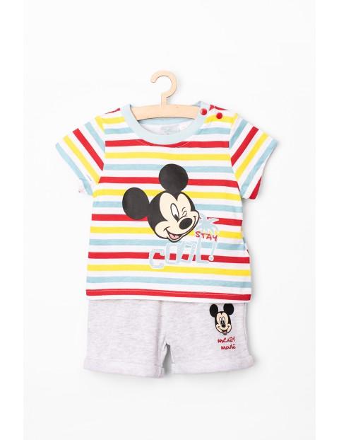 Komplet niemowlęcy t-shirt i spodenki Myszka Minnie