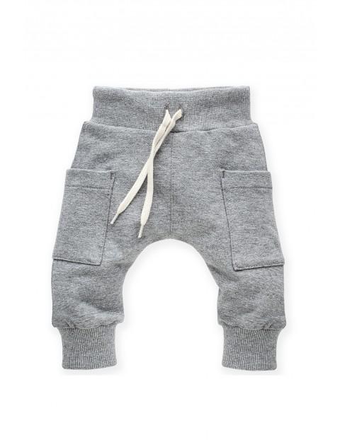 Spodnie dresowe pumpy szare z kieszonkami Wild Animals