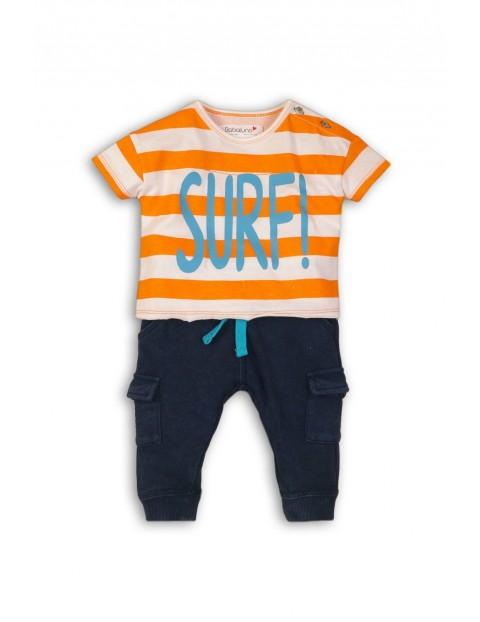 Komplet niemowlęcy t-shirt i długie spodnie Surf
