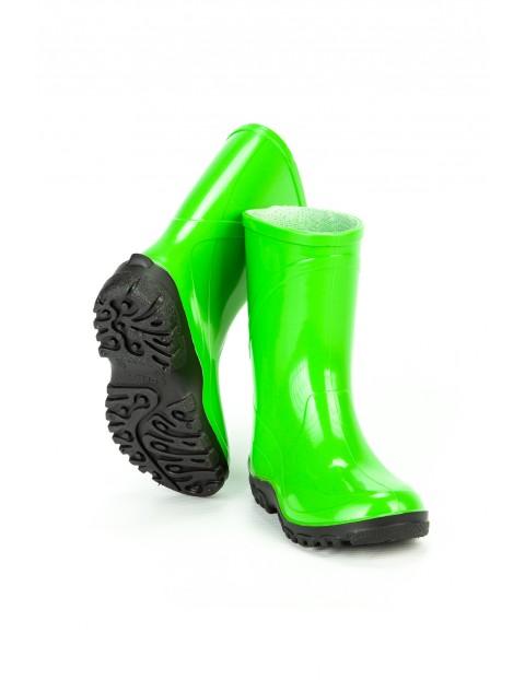 Kalosze dziecięce PVC  - zielone