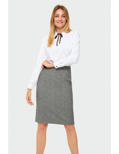 Spódnica damska w biało - czarną kratkę