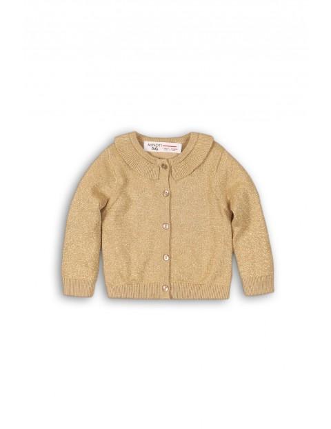 Sweter rozpinany dziecięcy złoty