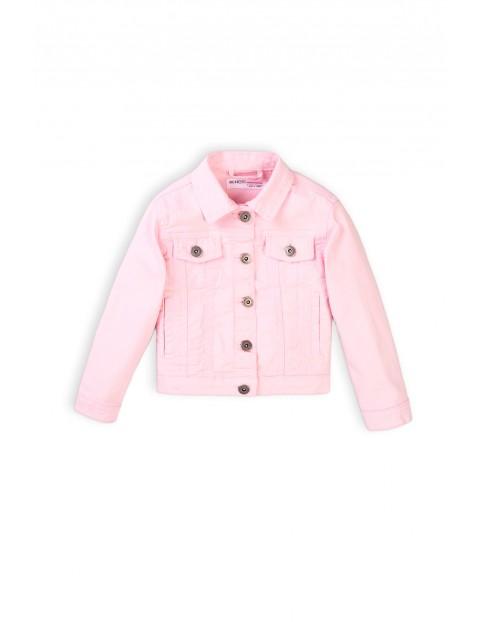 Kurtka dziewczęca jeansowa - różowa