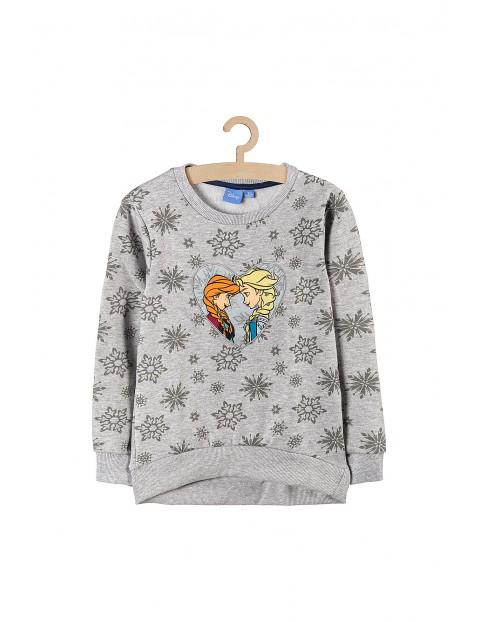 Bluza dresowa dziewczęca Kraina Lodu- szara