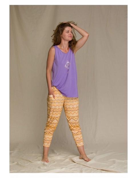 Słoneczny komplet z długimi spodniami