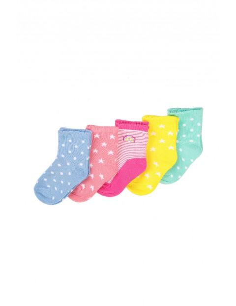 Skarpety niemowlęce kolorowe 5-pak