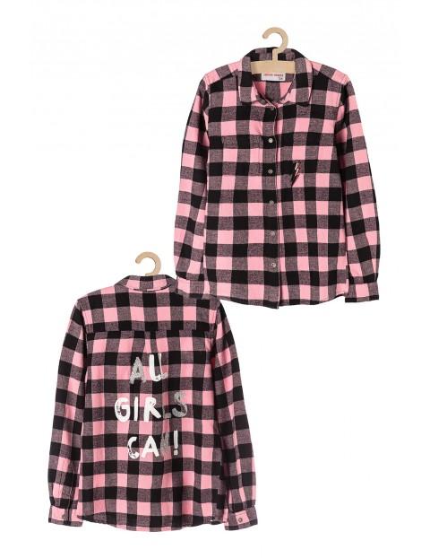 Koszula dziewczęca flanelowa w kratę