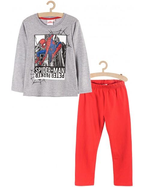 Piżama chłopięca Spiderman- szara koszulka i czerwone spodnie