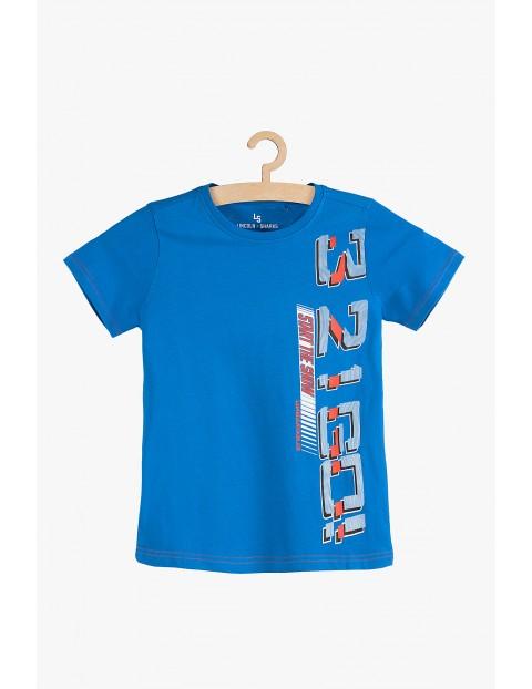 T-shirt chłopięcy niebieski 3...2...1...GO
