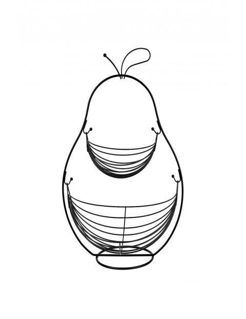 Koszyk druciany dwupoziomowy Tadar Gruszka czarny 34,5 x 25,5 x 51,5 cm