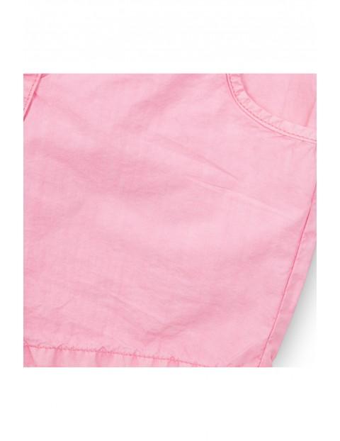 Szorty dziewczęce bawełniane różowe
