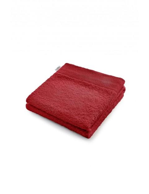 Bawełniany ręcznik kąpielowy - czerwony - 50x100 cm