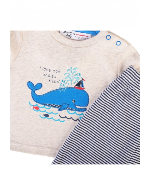Komplet niemowlęcy- bluzka z długim rękawem i spodnie