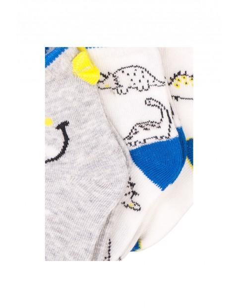 Skarpety niemowlęce w dinozaury 3-pak