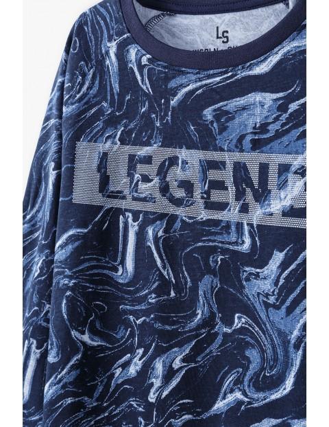 Bawełniana bluzka chłopięca z długim rękawem z napisem- Legend