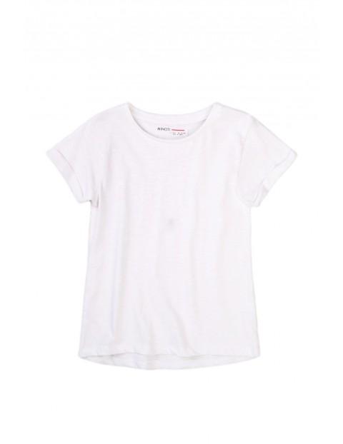 T-shirt dziewczęcy klasyczny biały