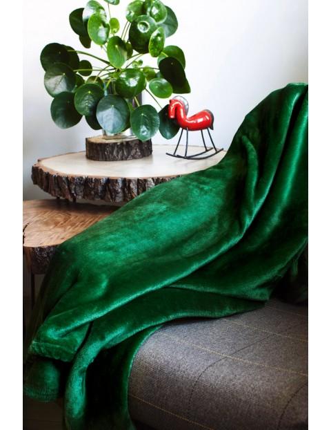 Koc-narzuta Siglo z mikrofibry butelkowa zieleń 220x200cm