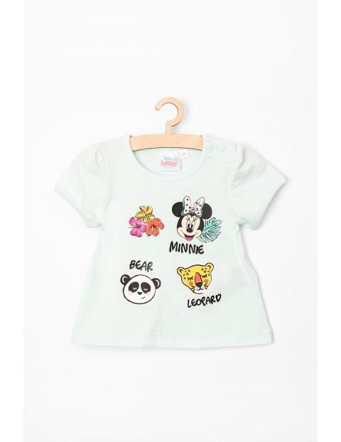 T-Shirt niemowlęcy Myszka Minnie niebieski