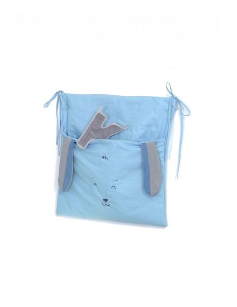 Przybornik - torba na łóżeczko Amy Midi Fluffy - niebieski