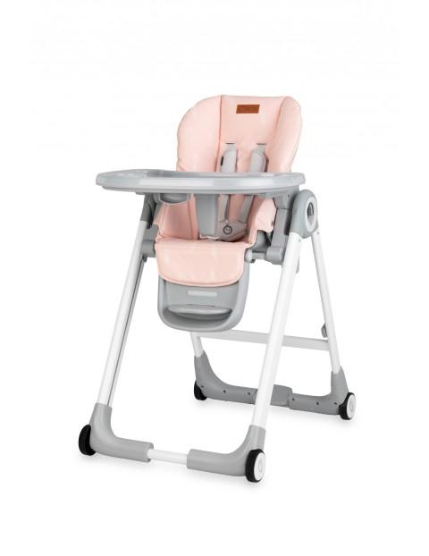 Krzesełko MoMi LUXURIAróżowy- Piórka 6msc+