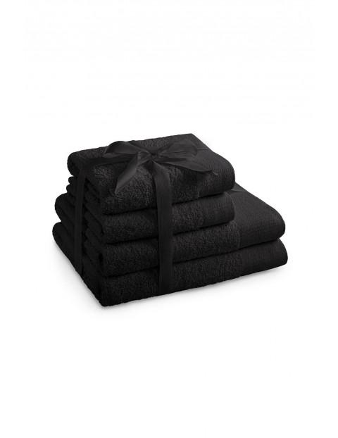 Zestaw ręczników bawełnianych AMARI czarne - 4 szt  - 2 ręczniki 70x140 cm, 2 ręczniki 50x100 cm
