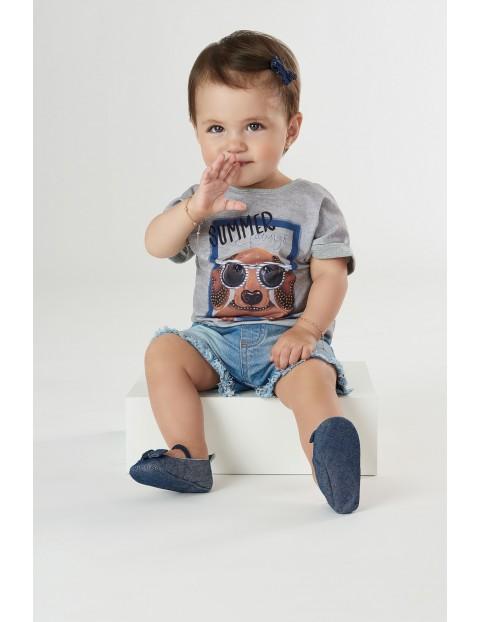 Koszulka dziecięca z pieskiem - szara