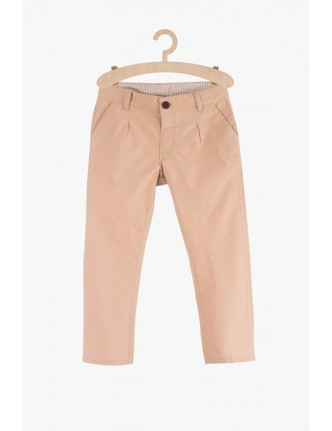 Spodnie chłopięce beżowe