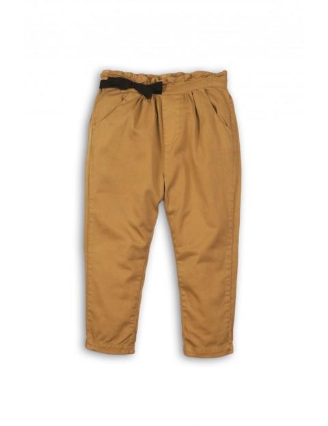 Spodnie niemowlęce brązowe-chinosy