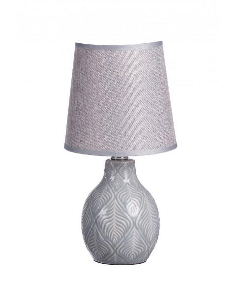 Lampa z ceramiczną podstawą- szara