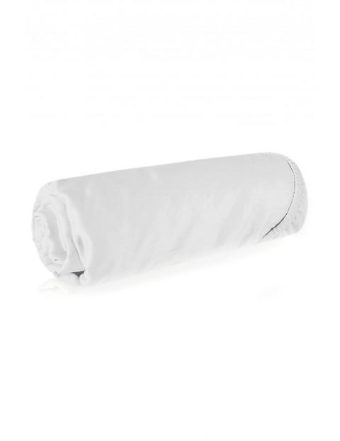 Prześcieradło bawełniane białe z gumką 180x200 cm