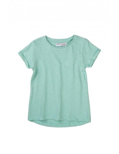 T-shirt dziewczęcy klasyczny zielony