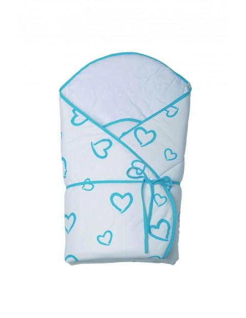Becik niemowlęcy-niebieskie serca