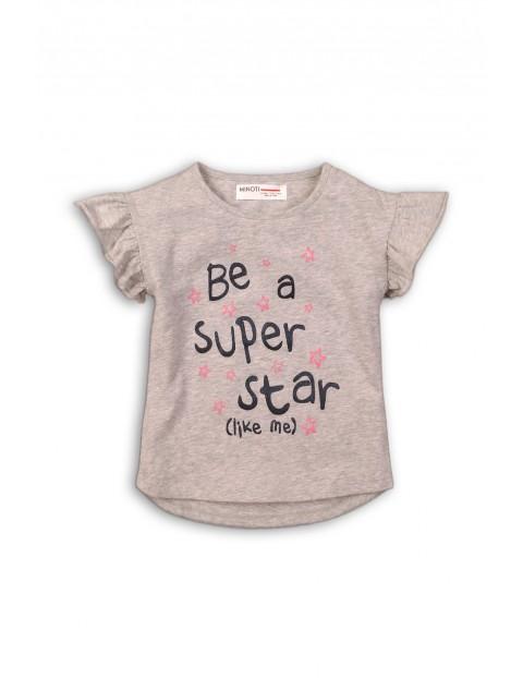 "T-shirt niemowlęcy ""Be a super star"" - szary"
