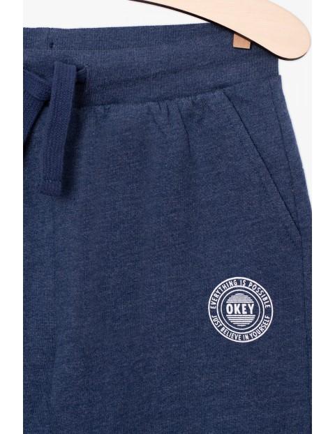 Dresowe spodnie dresowe dla chłopca- granatowe
